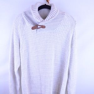 H&M Pull over knit sweater with leather closure